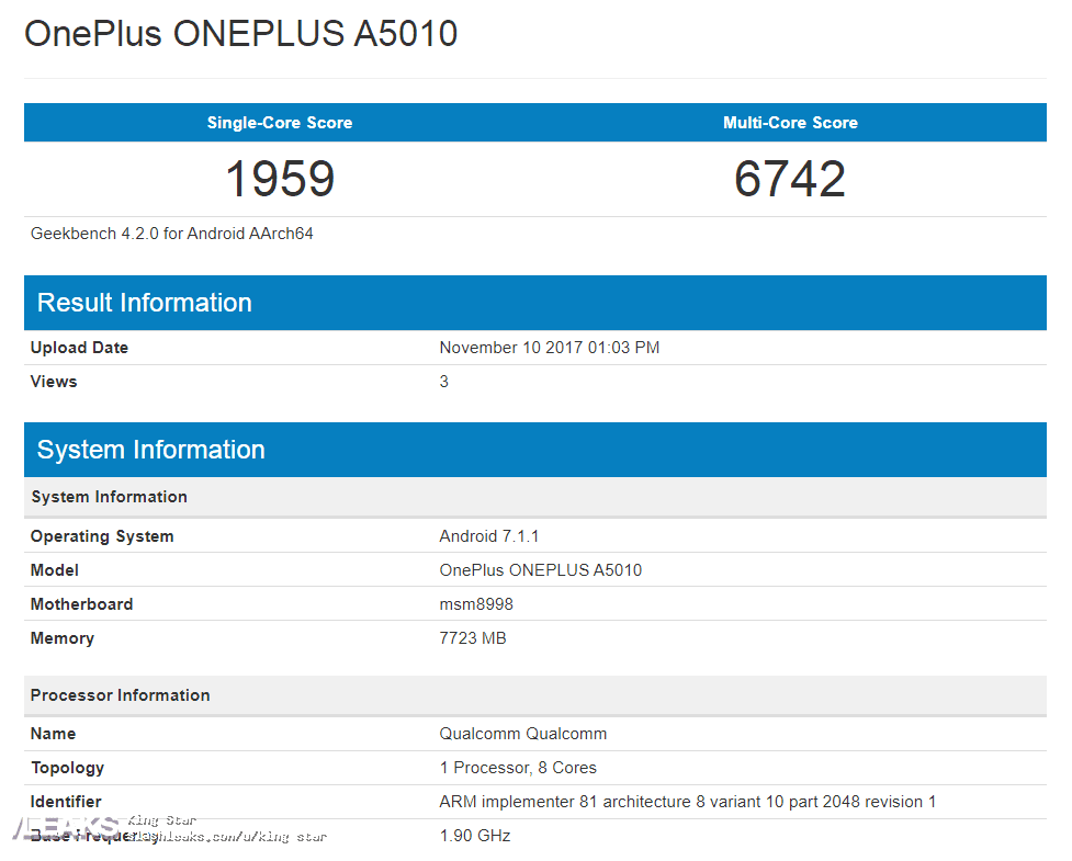 IMG 4 1 - OnePlus 5T Makes Stop At Geekbench Ahead Of Launch