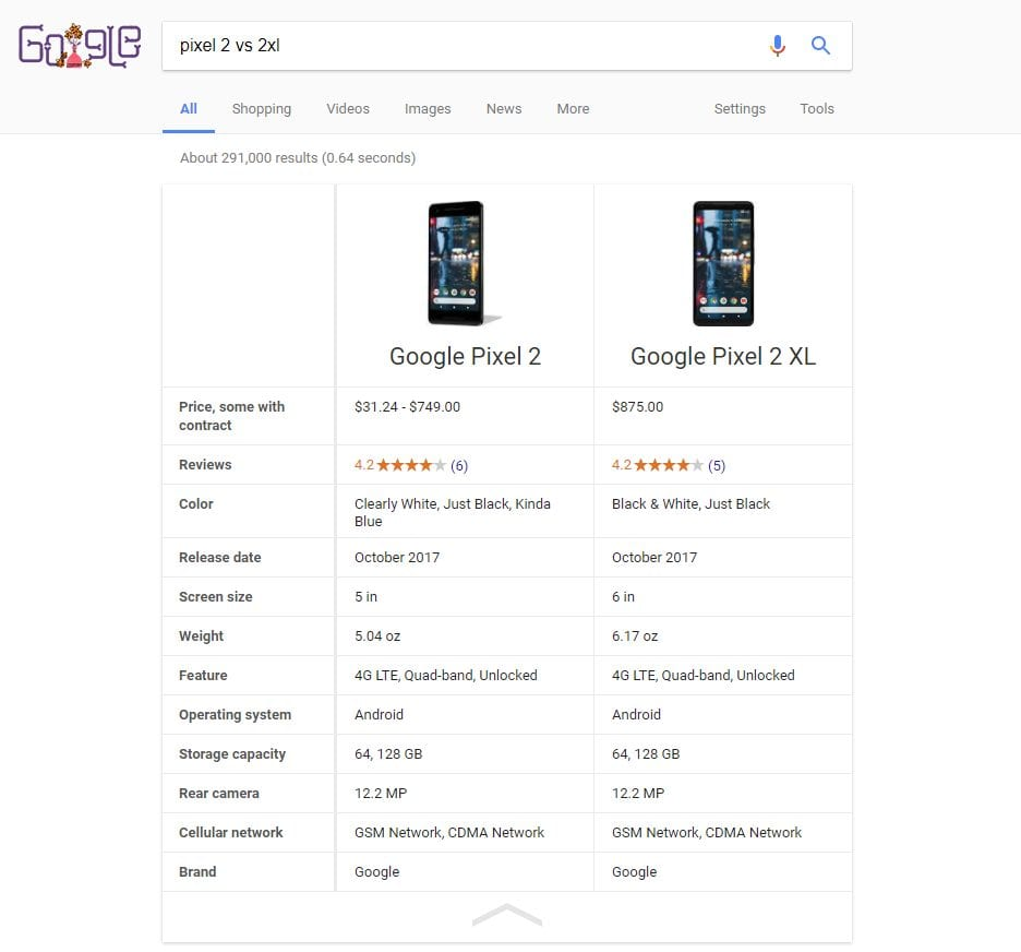 IMG 4 7 - Now You Can Compare Any Two Smartphones With Google's New Search Tool