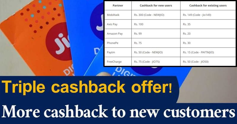 Reliance Jio Triple Cashback Offer: Get Benefits Worth Up to Rs. 2,599