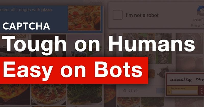 OMG! New AI Algorithms Beat CAPTCHA Tests 90% Of The Time