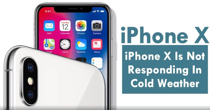 OMG! iPhone X Is Not Responding In Cold Weather