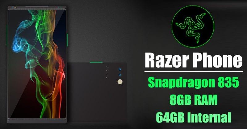 Razer Phone Leaks With Monstrous Specs: 120Hz Display, 4000mAh Battery, 8GB RAM