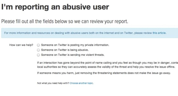 Report Offensive or Abusive Behavior on Social Media