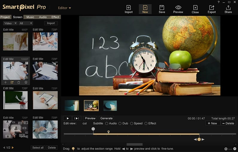 SmartPixel - best free screen recorder