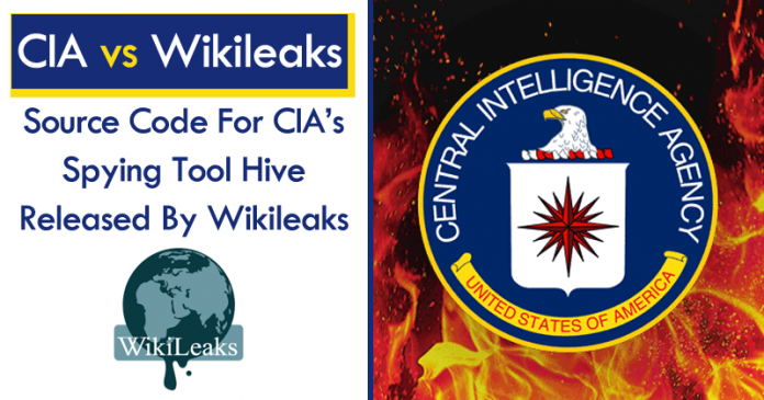 Source Code For CIA's Spying Tool Hive Released By Wikileaks