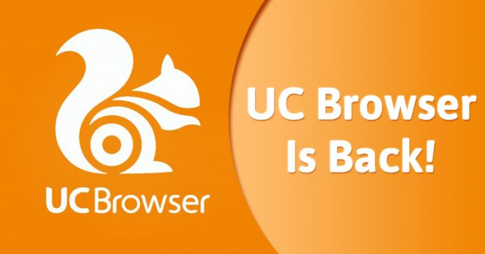 uc browser is back on playstore