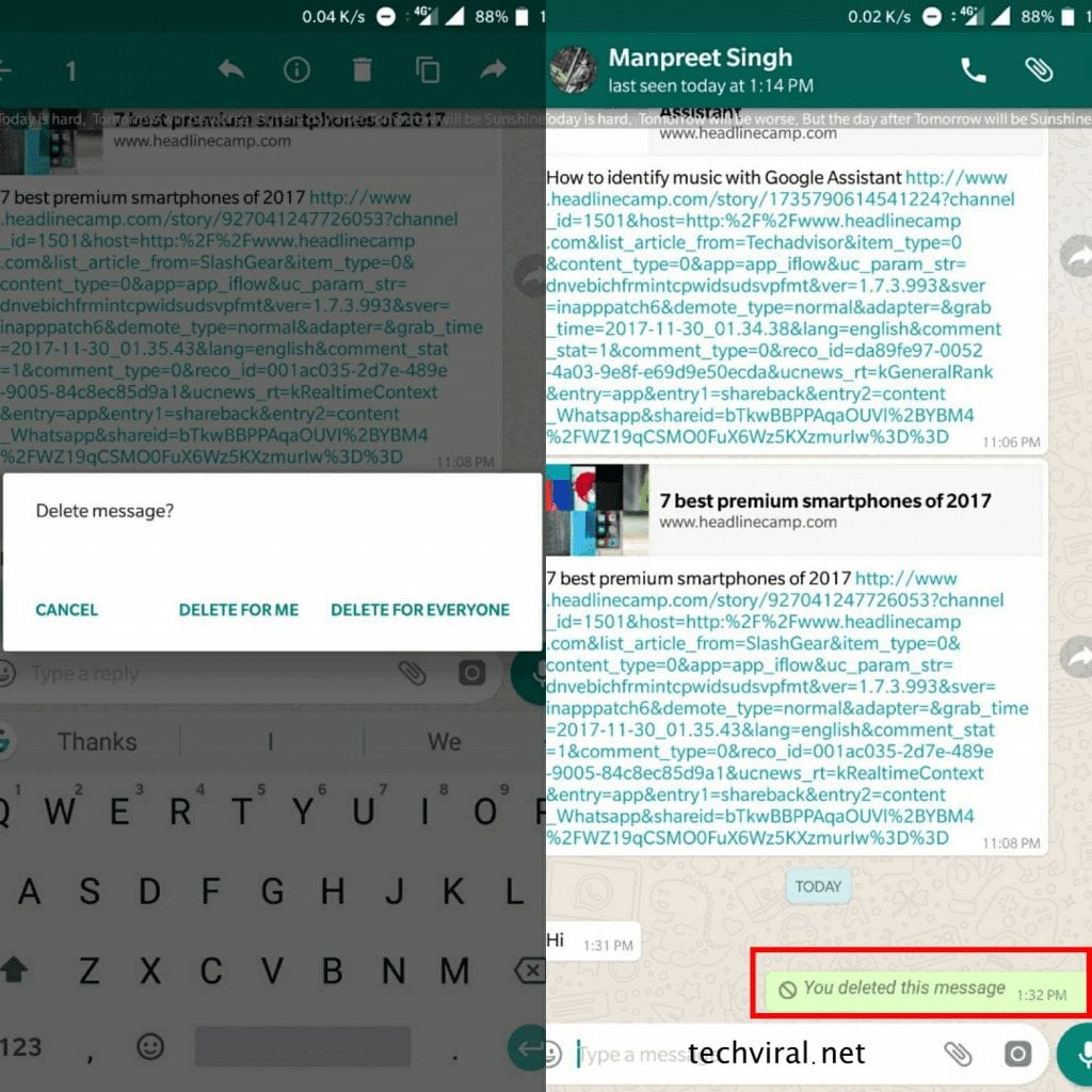 How to Erase Sent Messages on WhatsApp