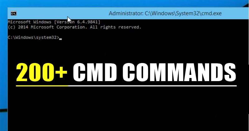 All CMD commands for windows