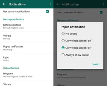 Disable Android Notifications for Various Social Networks