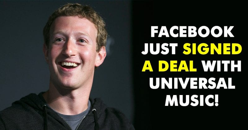 Facebook Signed A Deal With Universal Music!