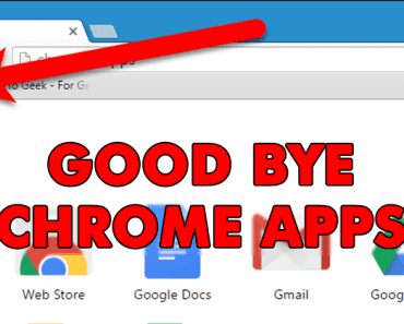 GoodBye Chrome Apps! Google Removes Chrome Apps Section