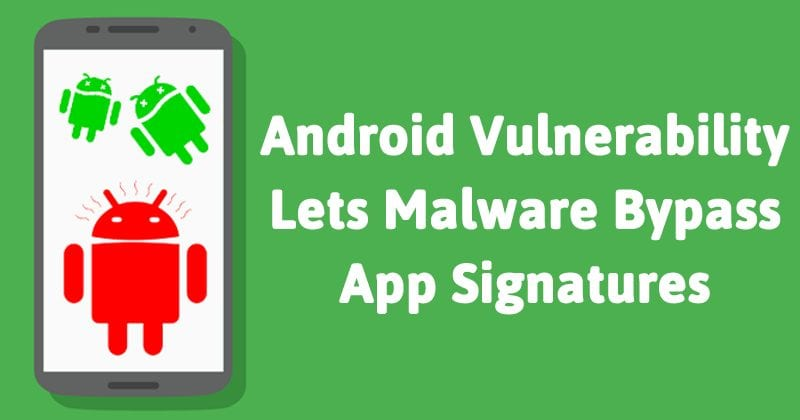 Hackers Can Inject Malware Into Android Apps Without Altering Signatures