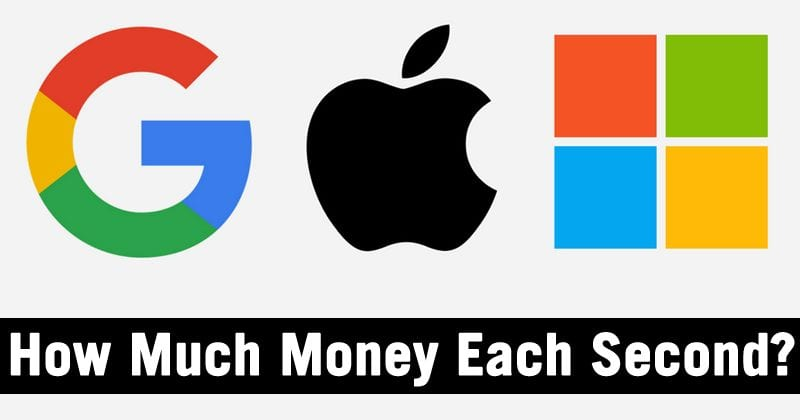 How Much Money Do Apple, Google & Others Make Each Second?
