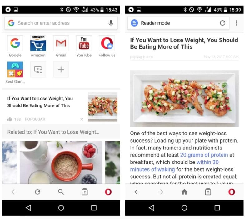 IMG 2 3 - Good News! Opera For Android Web Browser Gets A Fresh New Look, Faster Access To News
