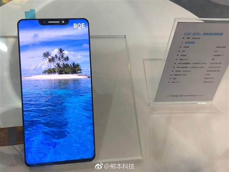 IMG 3 - BOE's 6.18-inch OLED Screen Looks Like The iPhone X's & Is Beautiful