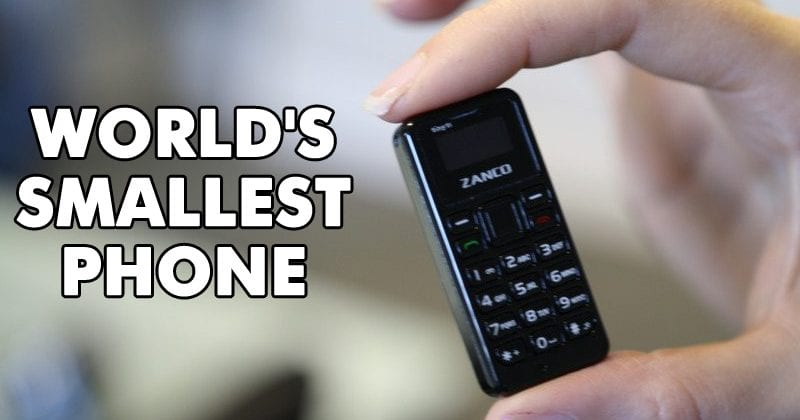 Meet Zanco Tiny t1 - World's Smallest Phone!