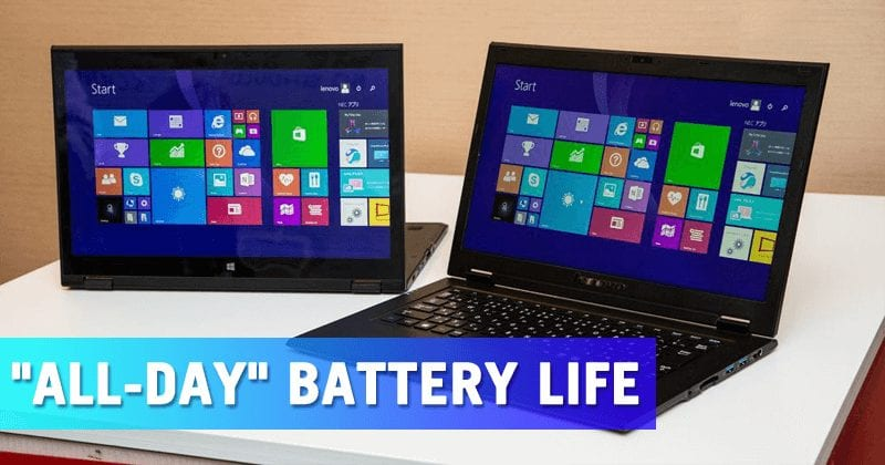 Microsoft Just Launched Windows 10 PCs With 'All-Day' Battery Life