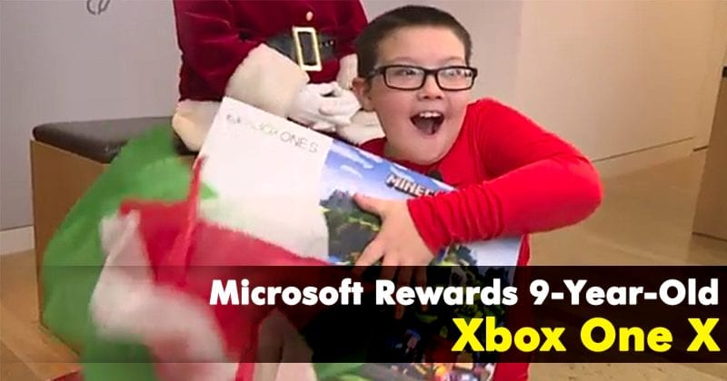 Microsoft Rewards 9-Year-Old's Selflessness With Xbox One X