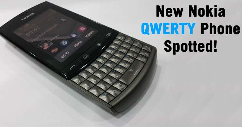 New Nokia Phone With QWERTY Keyboard Spotted!