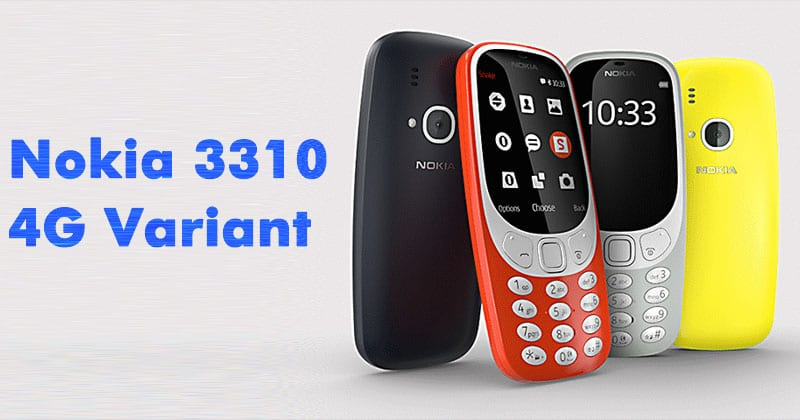 Nokia 3310 4g feature phone