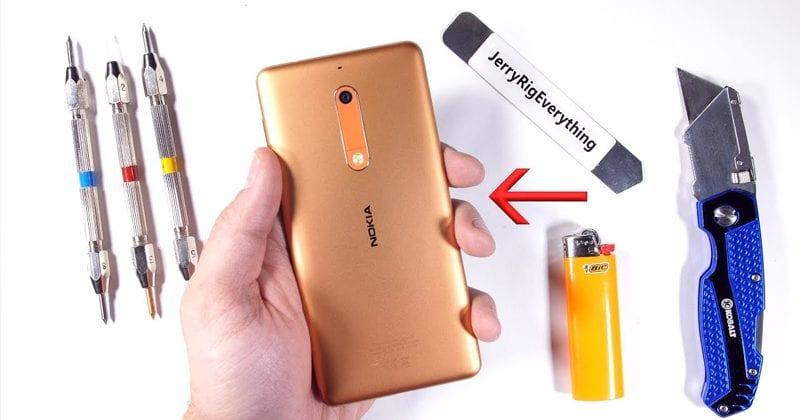 OMG! Nokia 5 Survives Scratch Burn & Bend Test