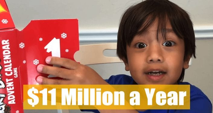 This 6-Year-Old Makes $11 Million A Year On YouTube