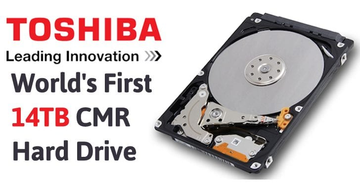 Toshiba Launches World's First 14TB CMR Hard Drive