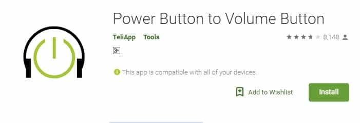Using Power Button to Volume Button
