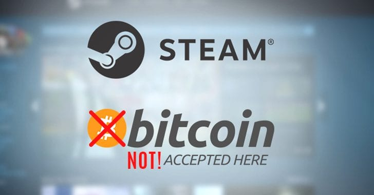 Video Game Platform 'Steam' No Longer Accepts Bitcoin
