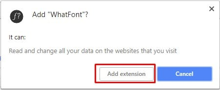 Click on 'Add Extension'