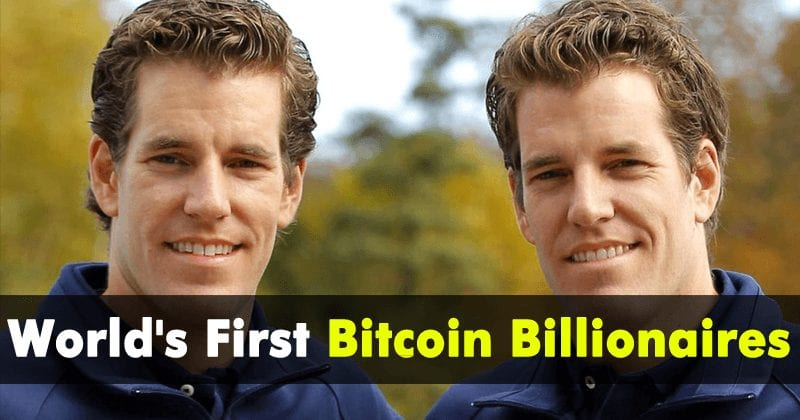 Winklevoss Twins Who Once Sued Mark Zuckerberg Becomes World's First Bitcoin Billionaires
