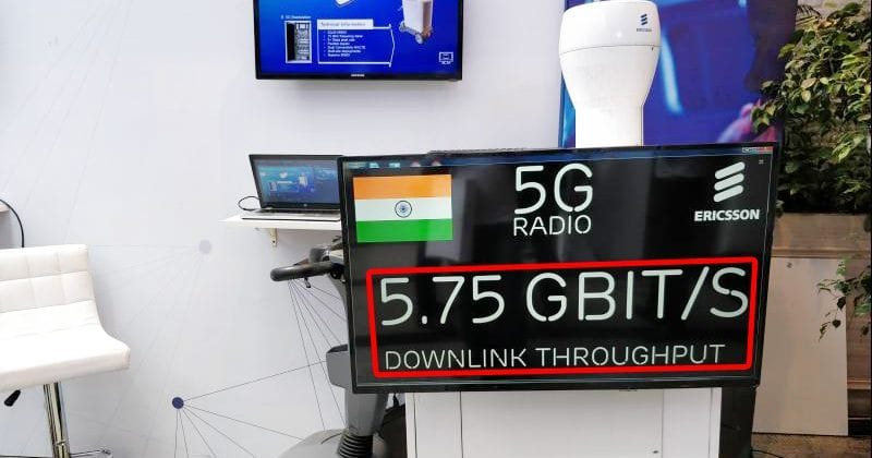 WoW! Ericsson Demonstrates 5.75Gbps 5G Network Setup In India