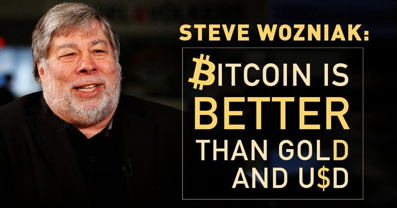 Steve Wozniak: Bitcoin Is Better Than GOLD And USD (Dollars)