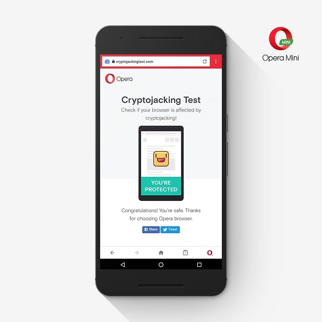 Crypto jacking - Opera Browser Adds Cryptocurrency Miner Protection for Smartphones