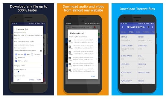 Download manager: Audio, Video, Torrents & more