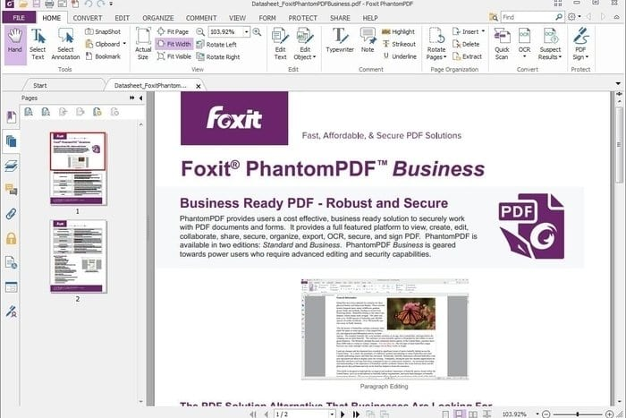 Foxit Phantom PDF 8 Editor  - Top 6 Best PDF Editors in 2019 (Paid and Free)