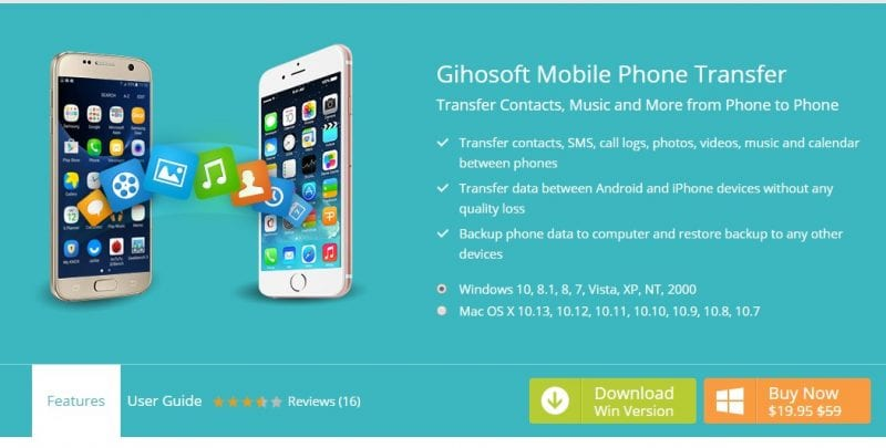 Using Gihosoft Mobile Phone transfer
