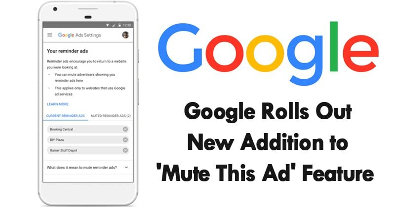 Google Rolls Out New Addition To 'Mute This Ad' Feature