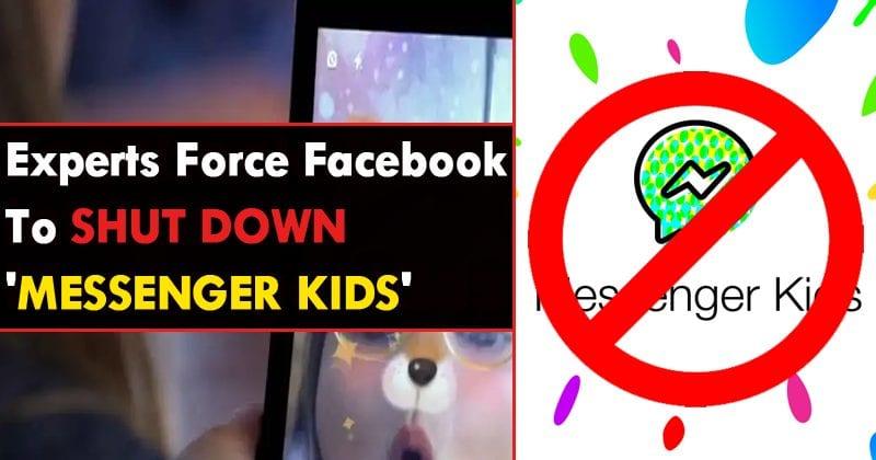 Health Experts Force Facebook To Shut Down 'Messenger Kids' App