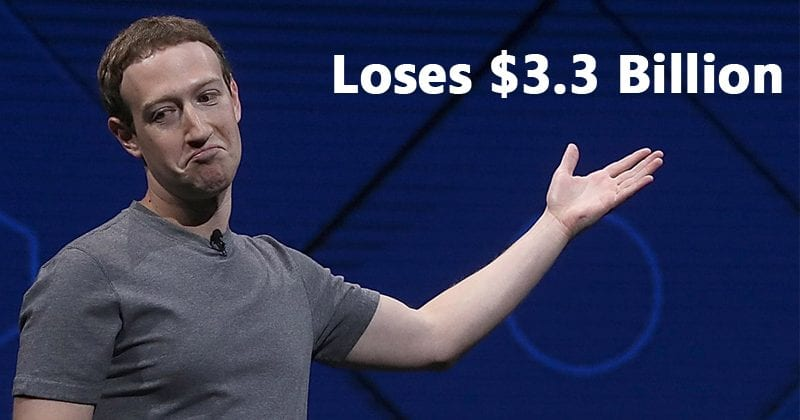 Mark Zuckerberg Loses $3.3 Billion After Facebook Changes News Feed