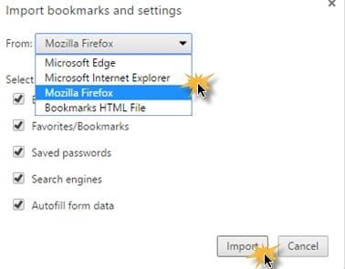Migrate all Data from Chrome to Firefox