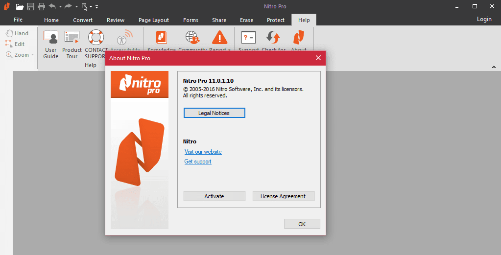 Nitro Pro 11 - Top 6 Best PDF Editors in 2019 (Paid and Free)