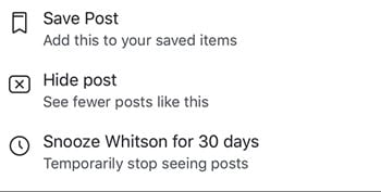 Snooze Someone for 30 Days on Facebook