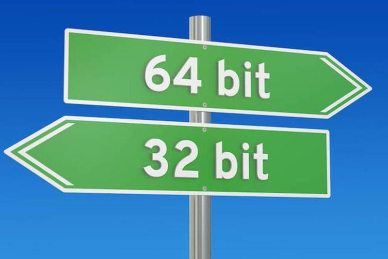Switch from 32-bit to 64-bit Windows 10
