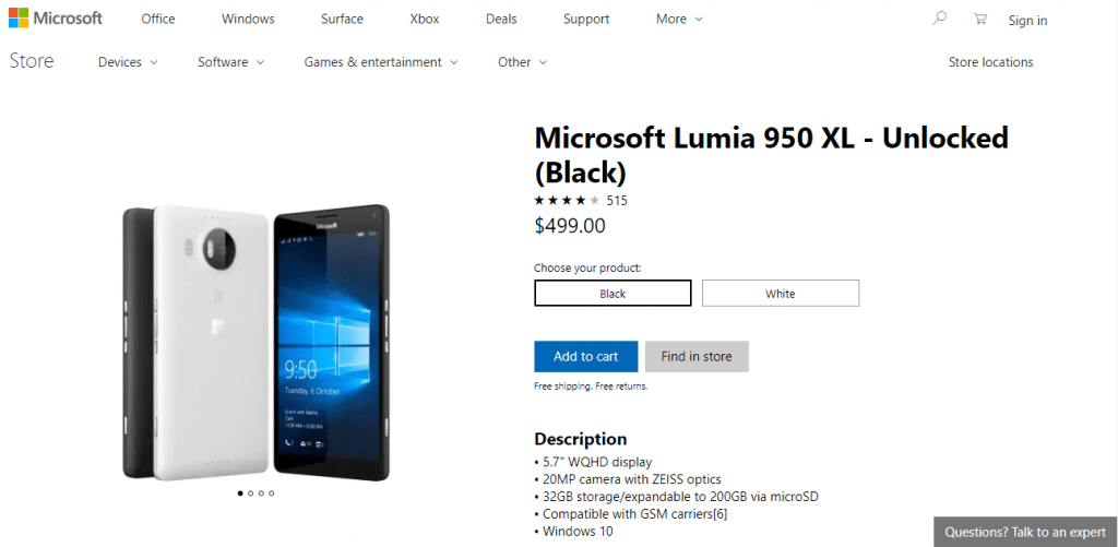 IMG 1 5 1024x501 - Mysteriously Microsoft Is Selling Old Lumia Smartphones Once Again