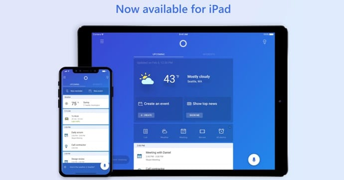 IMG 1 6 - Microsoft's Virtual Assistant Cortana Is Now Available For iPad Users