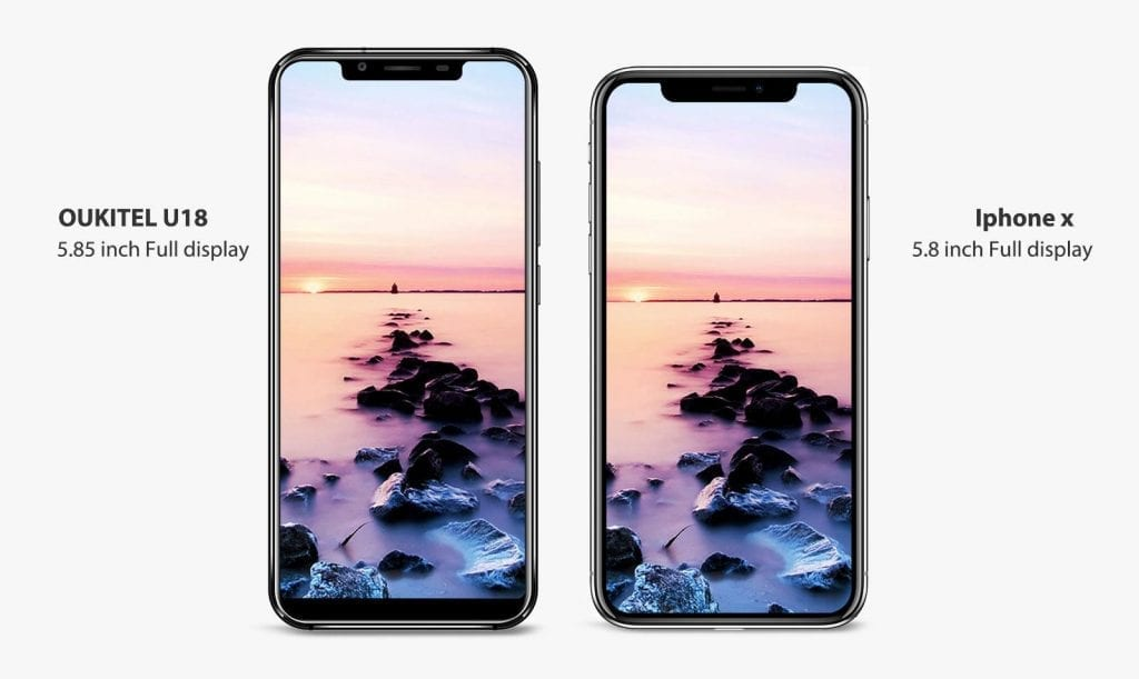 IMG 2 3 1024x611 - Oukitel U18 – Meet The Best Android Clone Of The iPhone X