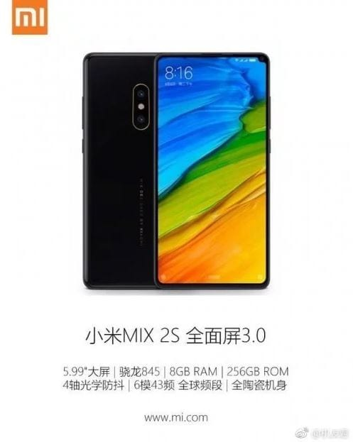 IMG 3 3 - Official Images & Specs Of Xiaomi Mi Mix 2s Leaked