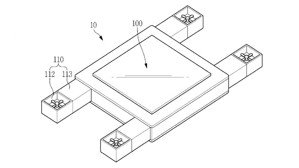 IMG 7 1 1024x576 - Samsung Patents A Flying Screen That's Controlled By Your Eyes
